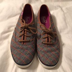 Orange and Purple Plaid Keds
